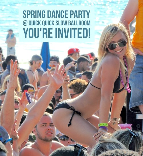 2016 Annual Spring Dance Party at Quick Quick Slow - Swing into Spring.