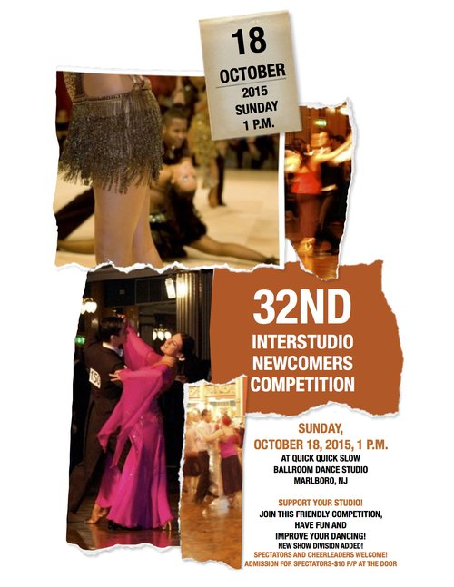 32nd Interstudio Newcomers Dance Competition Flyer