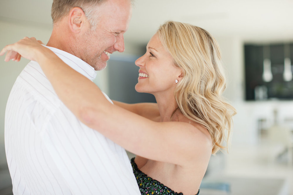 Romance. Couple rekindling their romance with dance lessons