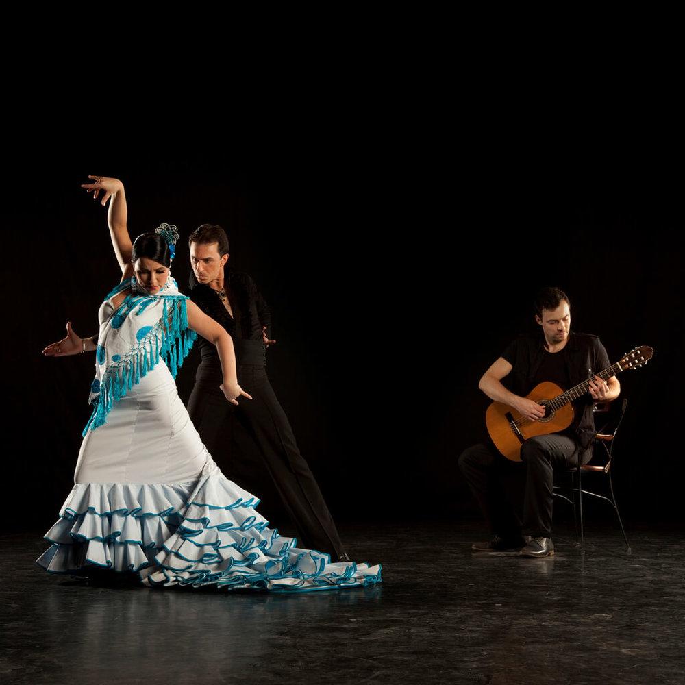 Flamenco Dancers,Passionate famenco dancers