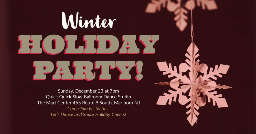2018 winter Holiday Season dance party at Quick Quick Slow