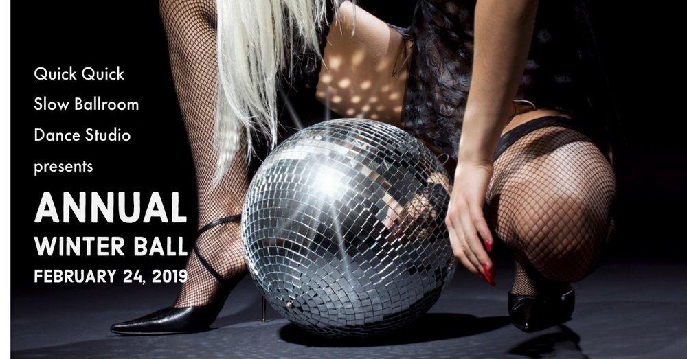 Quick Quick Slow Ballroom Dance Studio 2019 Annual Winter Ball announcement