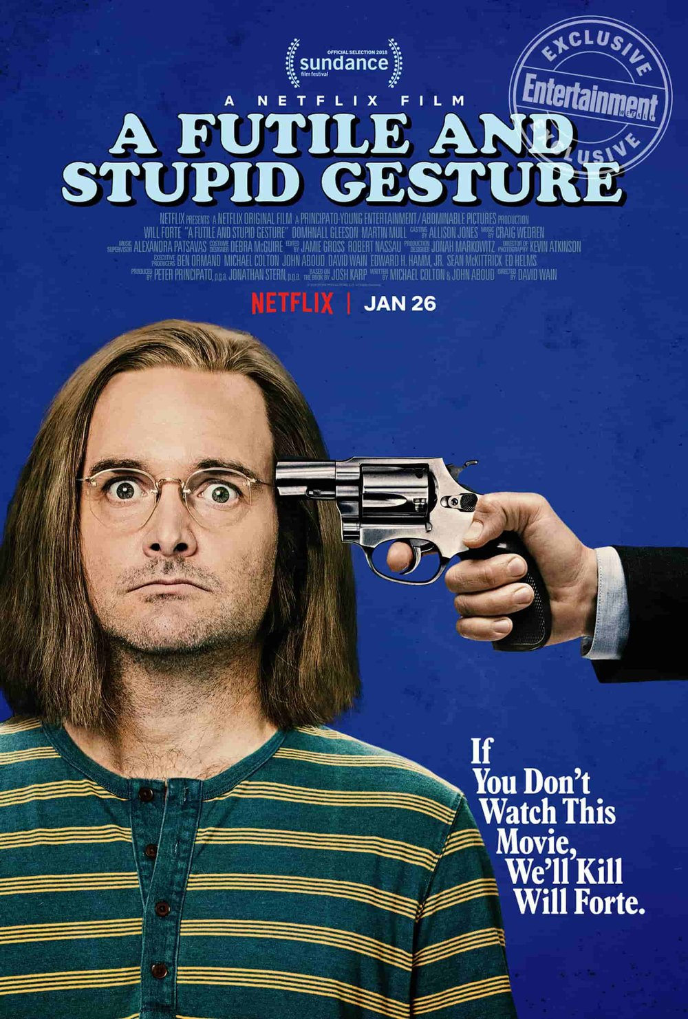 Will Forte for Netflix's A Futile And Stupid Gesture, Shot in Los Angeles | Commercial Photography