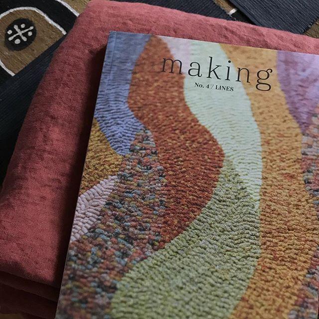 One #kimonojacket comin up. . #linen #makingzine #wikstenmade #sewing #handknityarnstudio