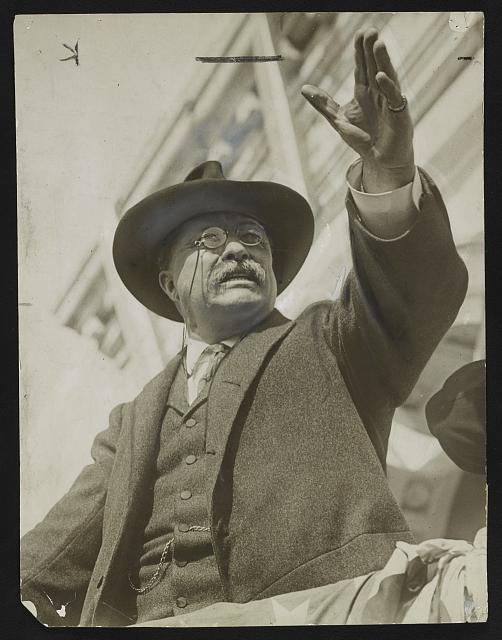 Theodore Roosevelt campaigning in New Jersey, 1912