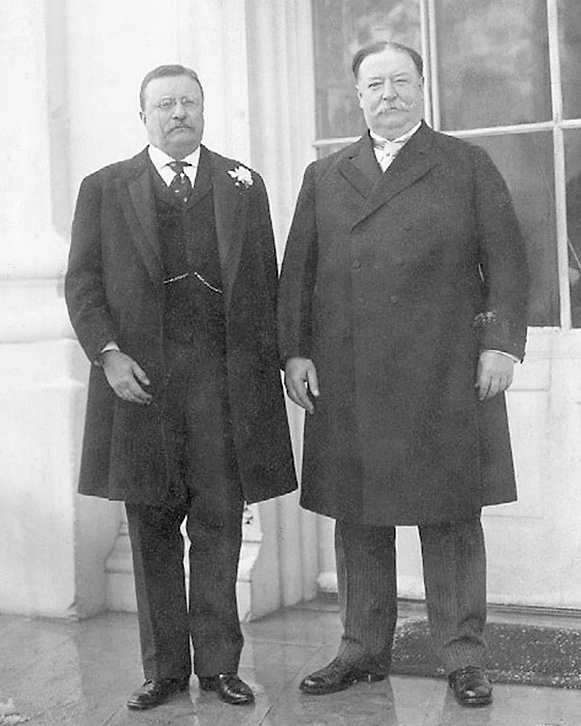 Roosevelt and Taft at the White House