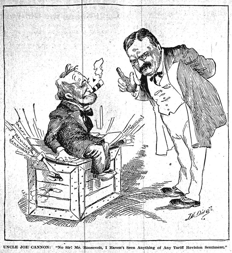 No sir! Mr. TR, I haven't seen anything of any tariff revision sentiment - Jan. 17, 1905