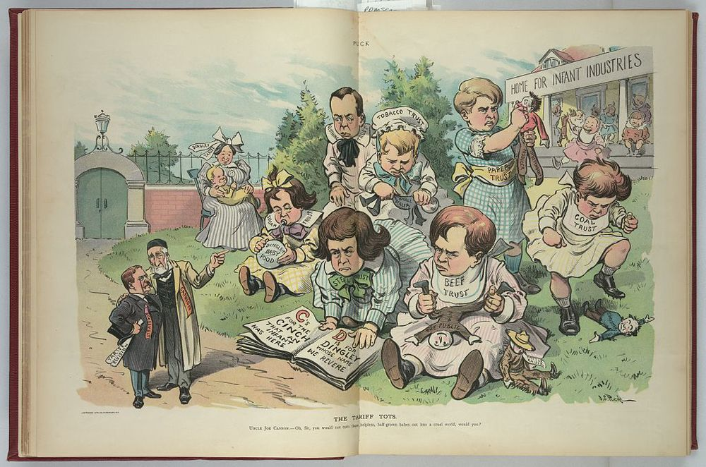 The Tariff Tots - Aug. 23, 1905
