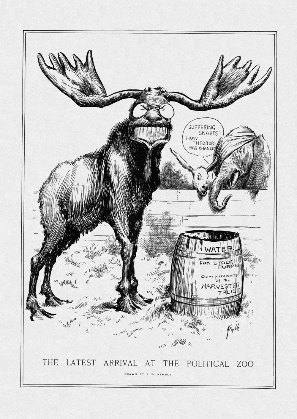 The Latest Arrival at the Political Zoo - July 20, 1912