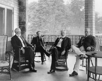 The Big Four at Aldrich's estate, 1903