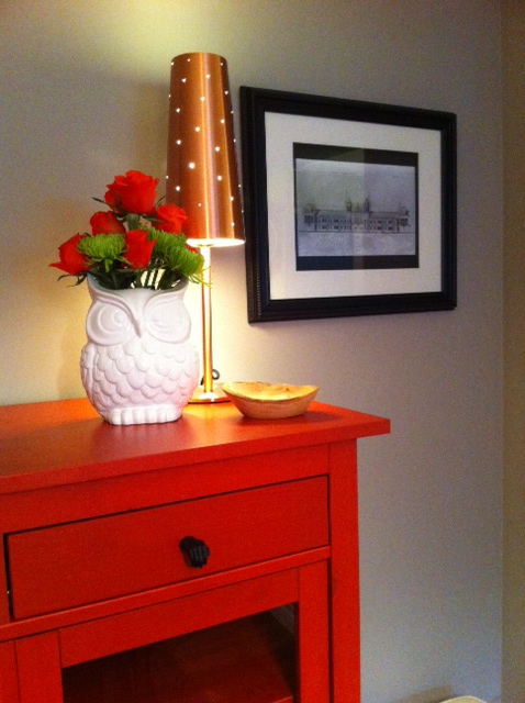 Red Posies or Red Furniture......