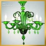 Green Lucite Chandelier