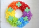 Paper Rainbow Door Wreath