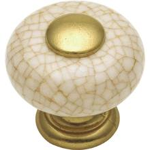 Mushroom shape Hardware, this one is classic in porcelain and brass. But also looks stunning in iron, and chrome.