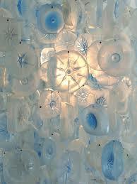 Mushroom Glass Orb Chandelier, very sculptural.