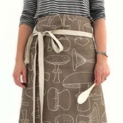 Taking the mushroom textile into the wearable, with the Apron.