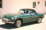 The MG in Racing Green