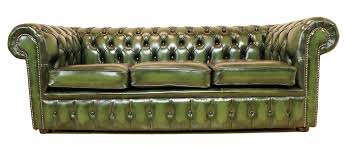 The British Green leather library chesterfield, or for smoking conversation in a lounge.