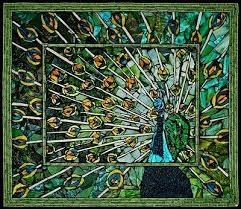 Peacock Mosaic Tile