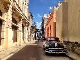 Buildings along the side streets of Havana, Cuba.