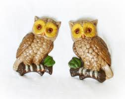 Owls were really the rage - Owly fridge magnets.
