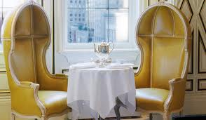 Weekend Coffee Corner - stunning birdcage chairs covered in a butter yellow shantung fabric. Delish!