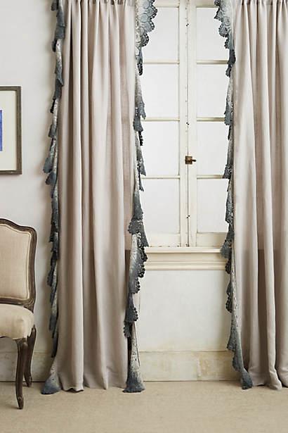 Grey tone drapery faux silk & lace