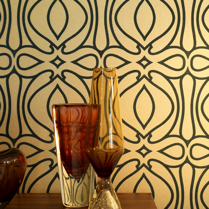 Baroque by Graham & Brown  Bold Wallpaper that also can be a divider in wall conversation.