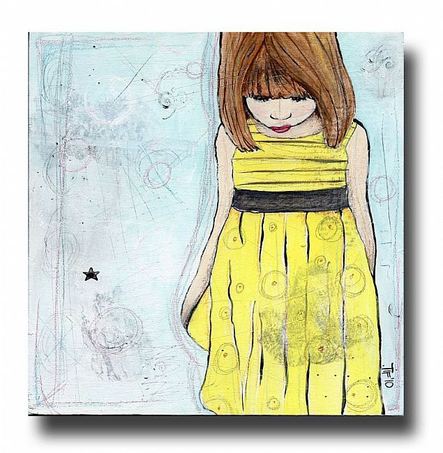 Girl in the YELLOW Dress by Tiffany Mathews  Forgotten Room Studios