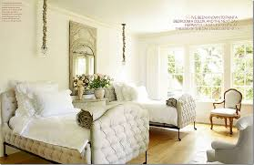 French Country Guest Room, layered linens.