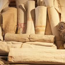 Layered Linen Textiles.