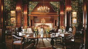 The Empress hotel - dining room.