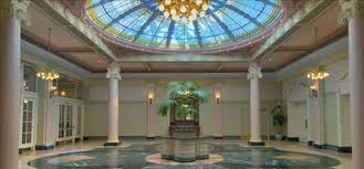 The famous dome at the entrance to the Crystal Ballroom - take the the tour and hear its famous party story.