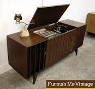 The vintage record buffet.