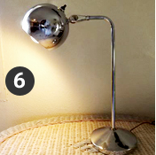 The Globe Lamp, aka the silver eyeball!