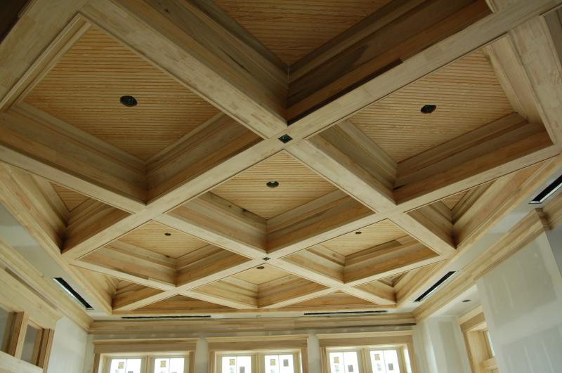Intricate Coffered Wood