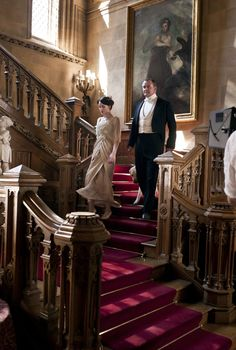 The drama in Downton Abby