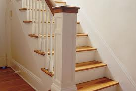 The staircase with an accented Tread design - contemporary style.