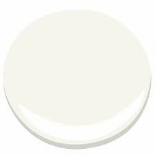 The white is crisp and elegant against the bold and dramatic Super Nova.    Simply White  by Benjamin Moore Paints