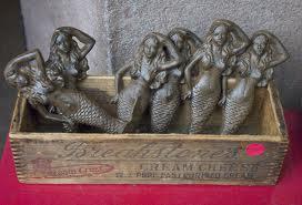 Vintage market finds.......mermaids hooks!