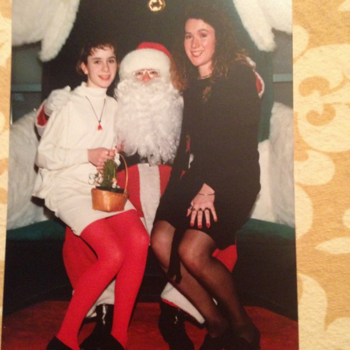 Here is Nettle on Location! Visiting Santa Claus with my wee sister...........