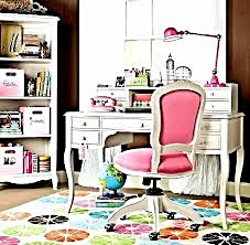 An electic Pink home workspace.