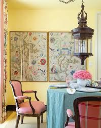 Framed wallpaper pattern in a space.