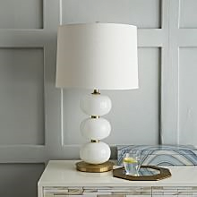 Abacus Lamp, White Milk Glass by West Elm