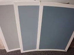 Colour Samples on painted White poster board.
