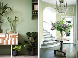 The Painted Wall of perfection! Here with Guildford Green by Benjamin Moore, colour of 2015. See how it changes with lighting?