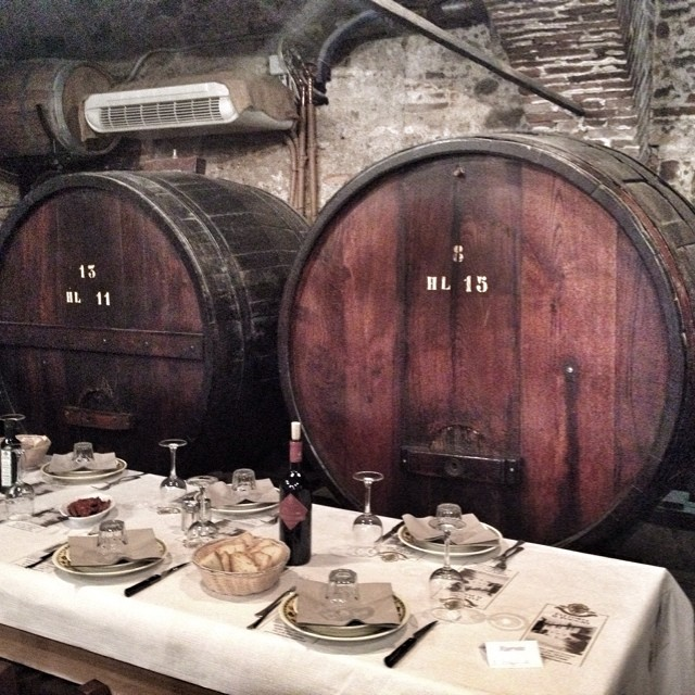 Inside the cellar