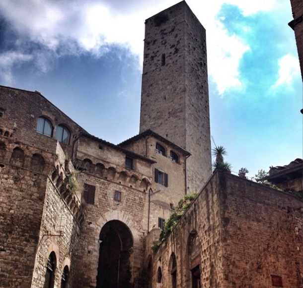 The medieval walls + towers of San Gimignano