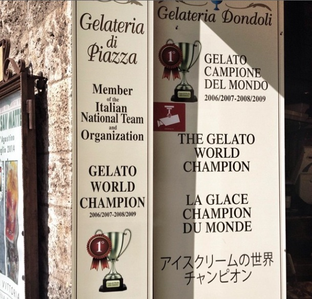 A very famous + award winning gelateria