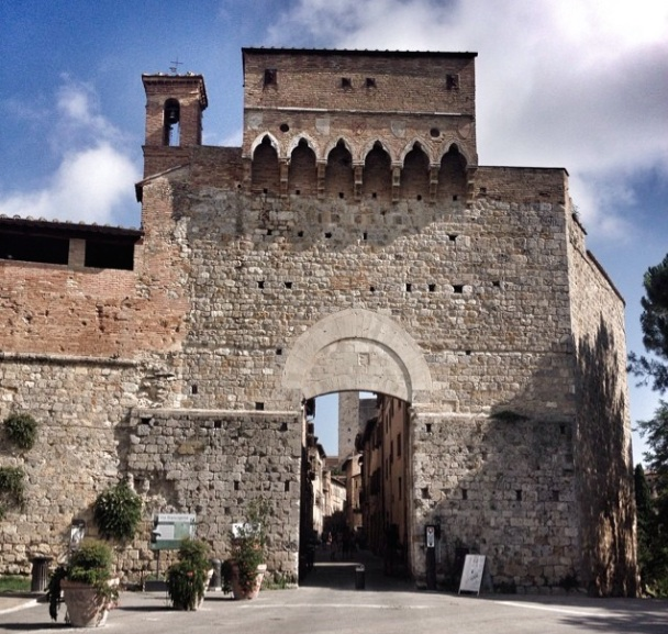 Entry to the walled city of San Gimignano